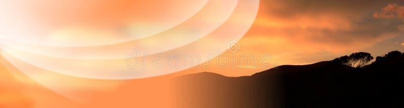 Toskana-Sonnenuntergang-Feiertags-Fahne