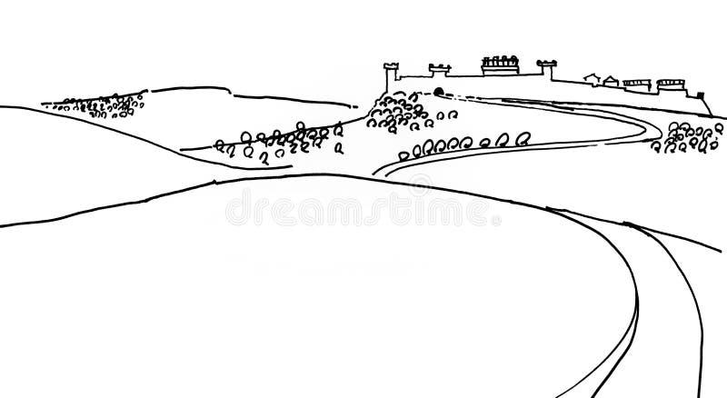 toskania royalty ilustracja