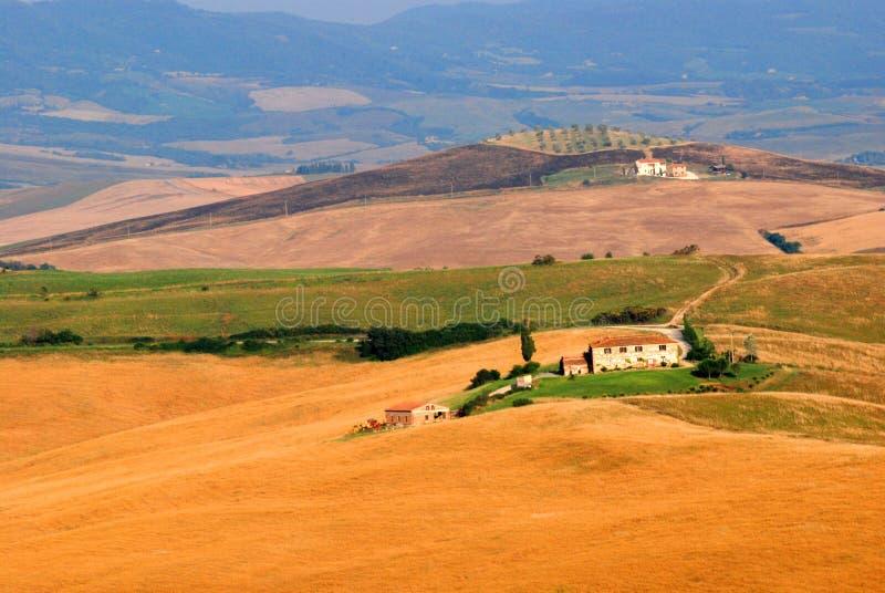 Toskania z gospodarstw rolnych fotografia royalty free