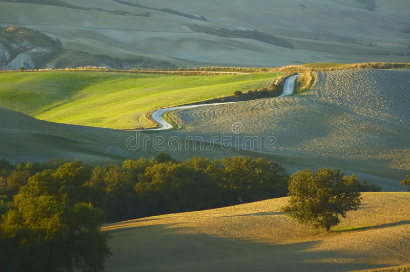 Toskanische Landschaft lizenzfreie stockfotos