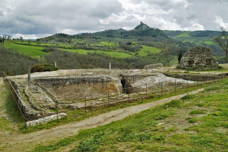 Toskanische Landschaft-Siena-Hügel lizenzfreie stockbilder
