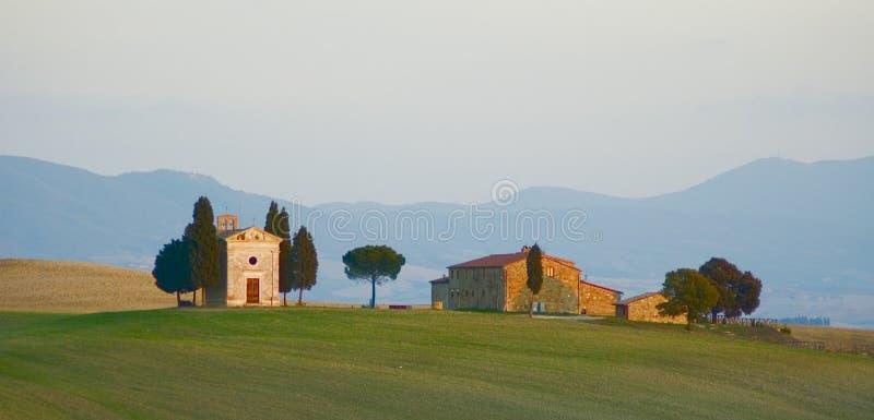 Toskanka krajobraz zdjęcie royalty free