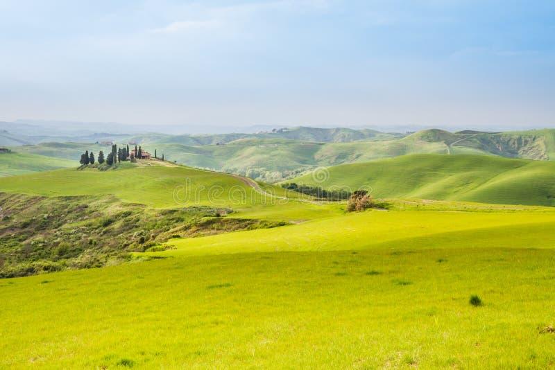 Toskanka krajobraz blisko Volterra Pisa, Włochy (,) zdjęcia stock