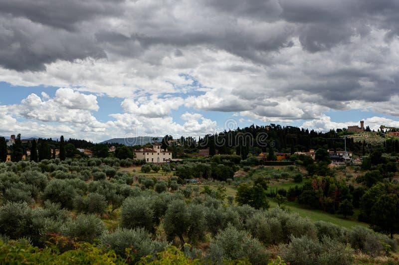 Toskanka krajobrazowy Florencja, Włochy zdjęcie royalty free