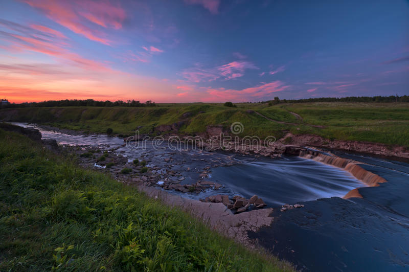 Download Tosna river riffle stock image. Image of sunset, brown - 25393077