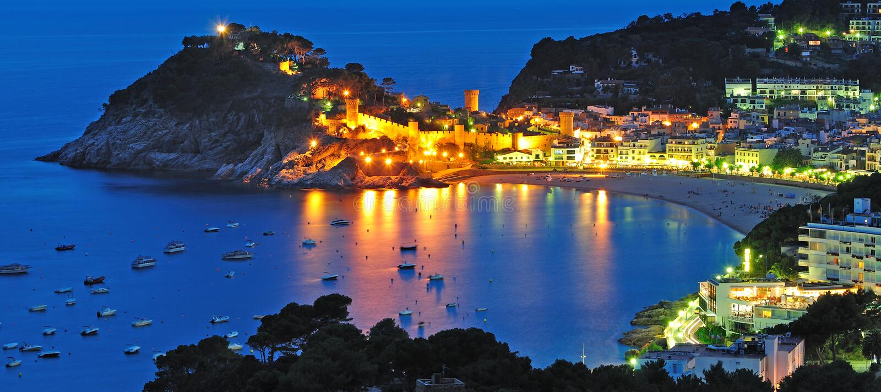 Tossa de março, costela Brava, Spain foto de stock royalty free