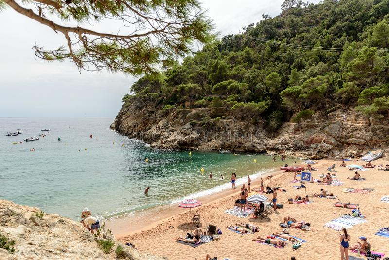 Tossa de Mar, Κόστα Μπράβα, Catalunya, Ισπανία στοκ φωτογραφία