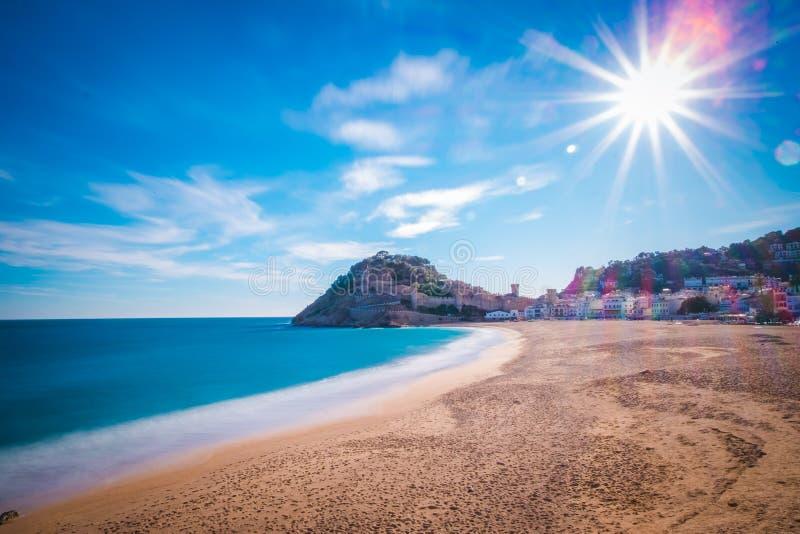Tossa de mar на Косте Brava, Каталонии, Испании стоковая фотография rf