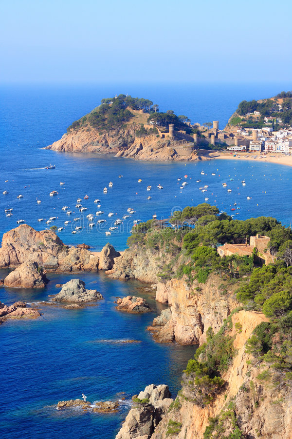 Download Tossa de Mar stock image. Image of seascape, coastline - 5492929