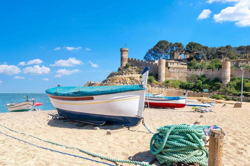 Tossa de mar beach. Costa Brava, Catalonia, Spain royalty free stock image
