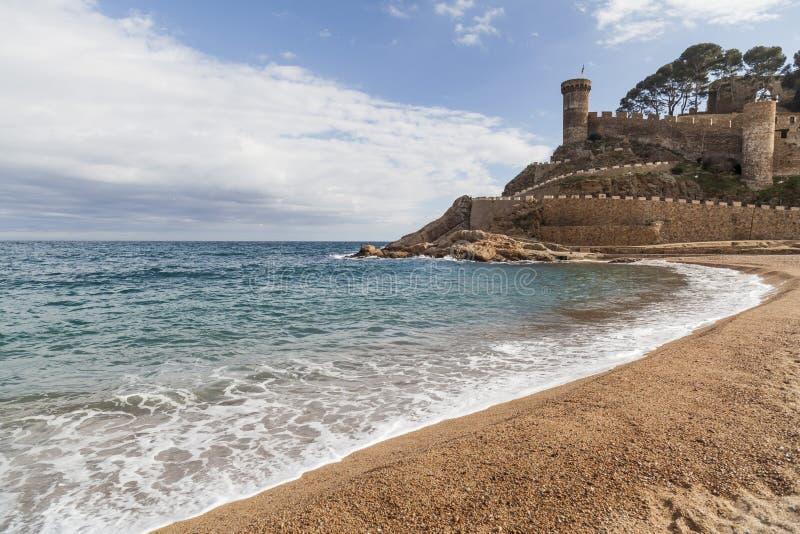 Tossa de Mar, Catalonië, Spanje stock foto