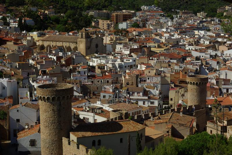 Tossa De Mar City Costa Brava Spain Stock Photo Image of