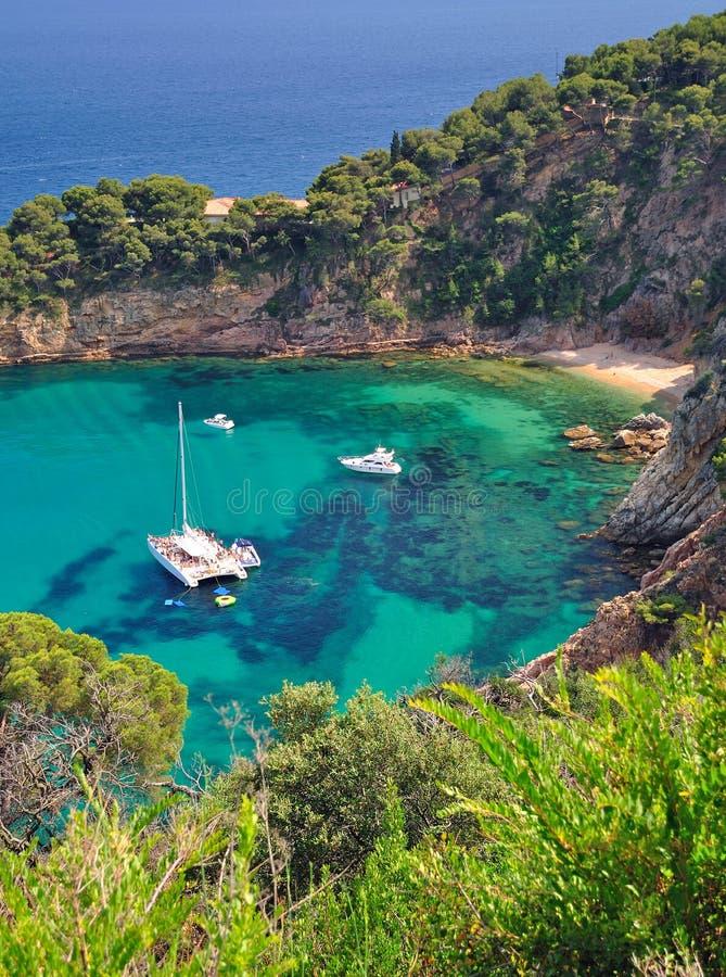 Tossa-de-Mar,coastal Landscape,Costa Brava,Spain stock photos
