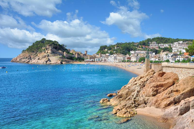 Tossa de Mar,Costa Brava,Catalonia,Spain royalty free stock image