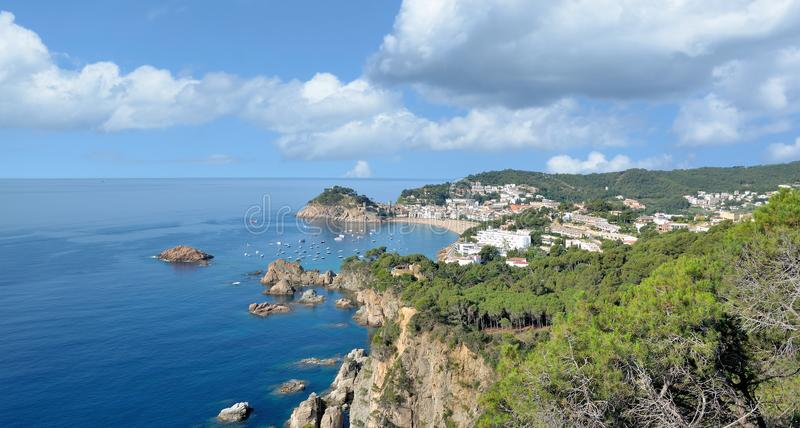 Tossa de Mar at Costa Brava,Catalonia,Spain stock photos