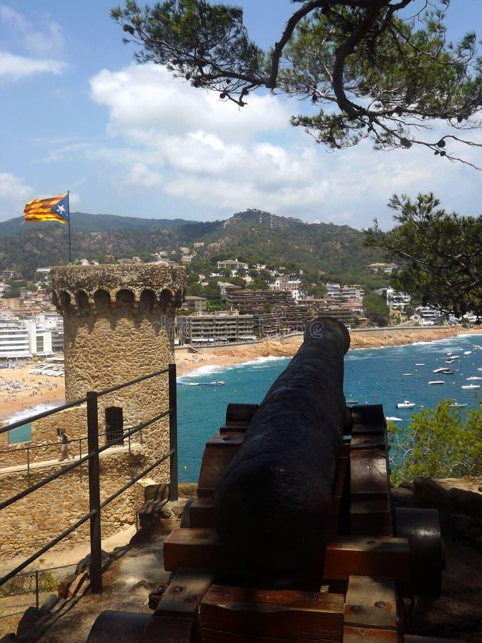 Tossa de Mar, Costa Brava, Katalonien stockbild