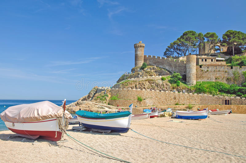 Tossa-de-Mar,Costa Brava,Spain royalty free stock image