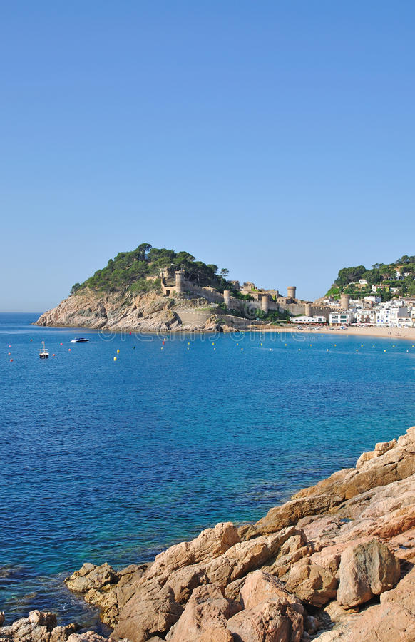 Tossa-de-Mar,Costa Brava,Spain stock photo