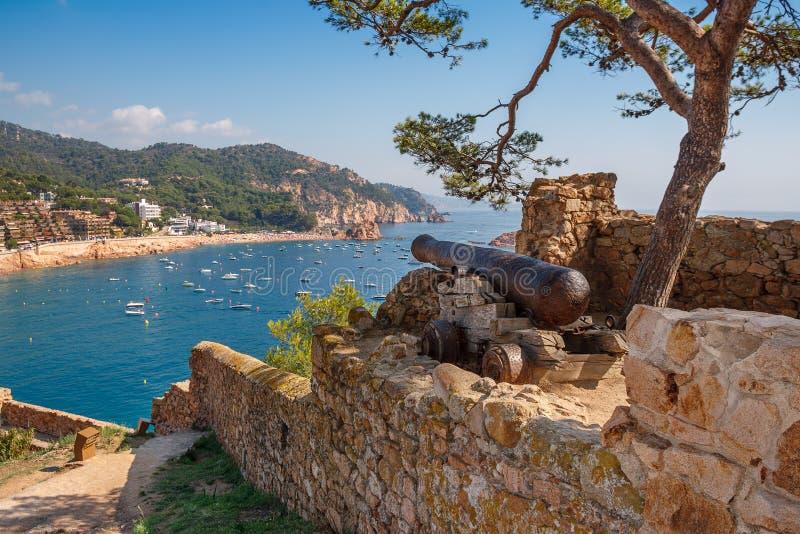 Tossa de Mar. Costa Brava, Spain royalty free stock image