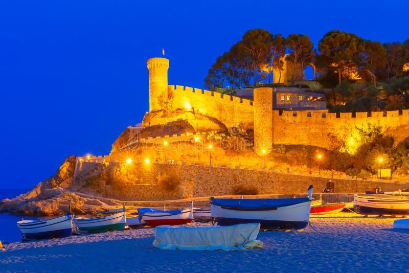 Tossa de Mar en Costa Brava, Catalunya, España imagen de archivo libre de regalías