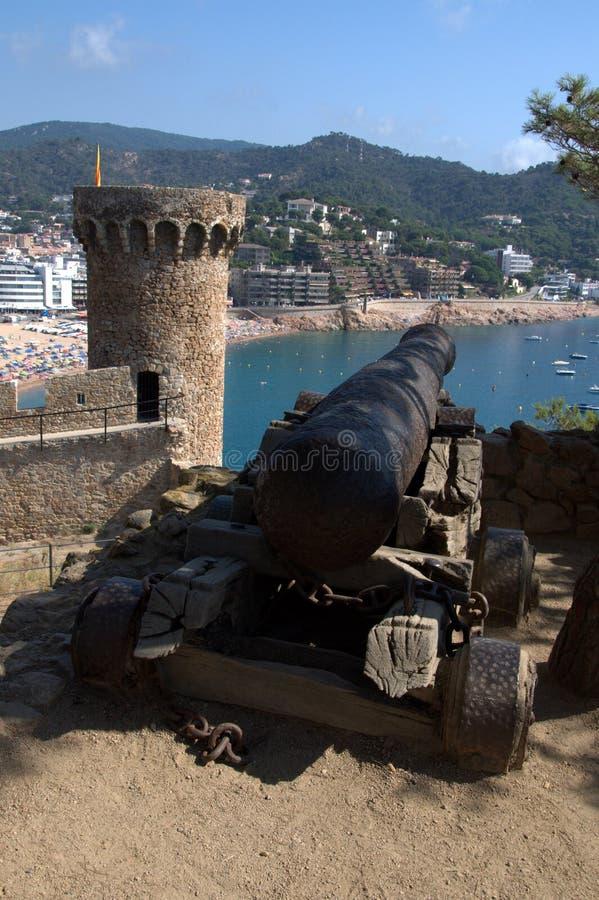 Tossa DE Mar haven, Costa Brava royalty-vrije stock fotografie