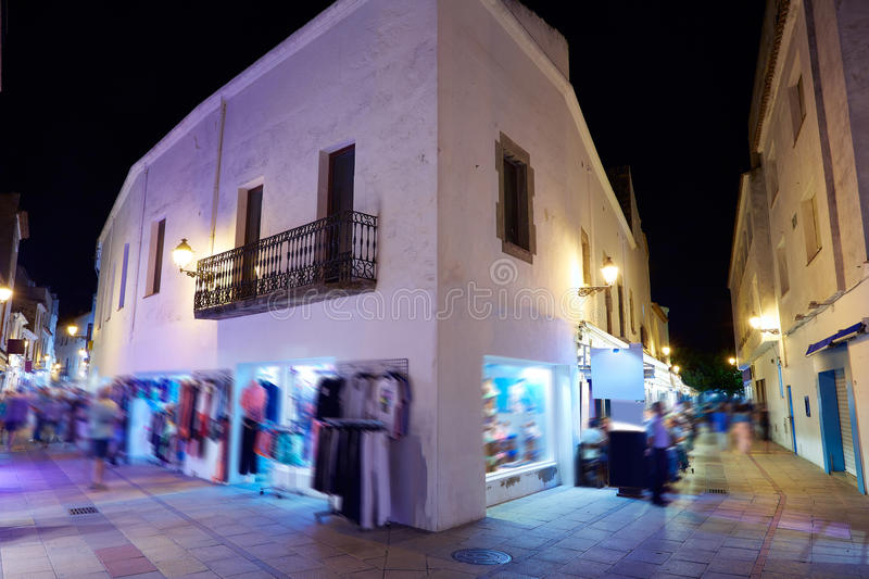 Tossa de Mar night village Costa Brava Catalonia royalty free stock photo