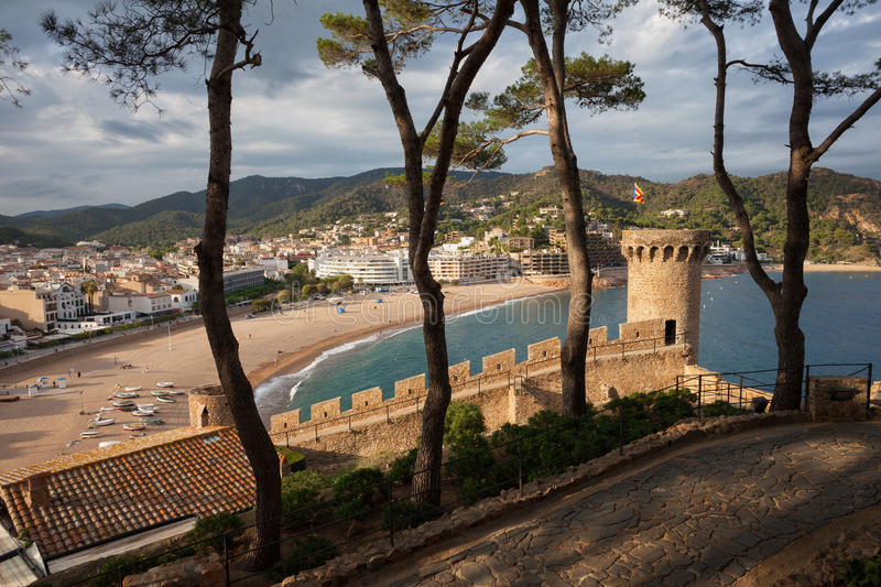Tossa de Mar Town on Costa Brava royalty free stock photography