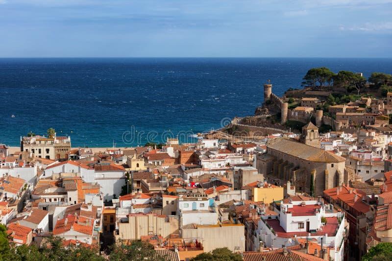 Tossa de Mar Town on Costa Brava in Spain royalty free stock photos