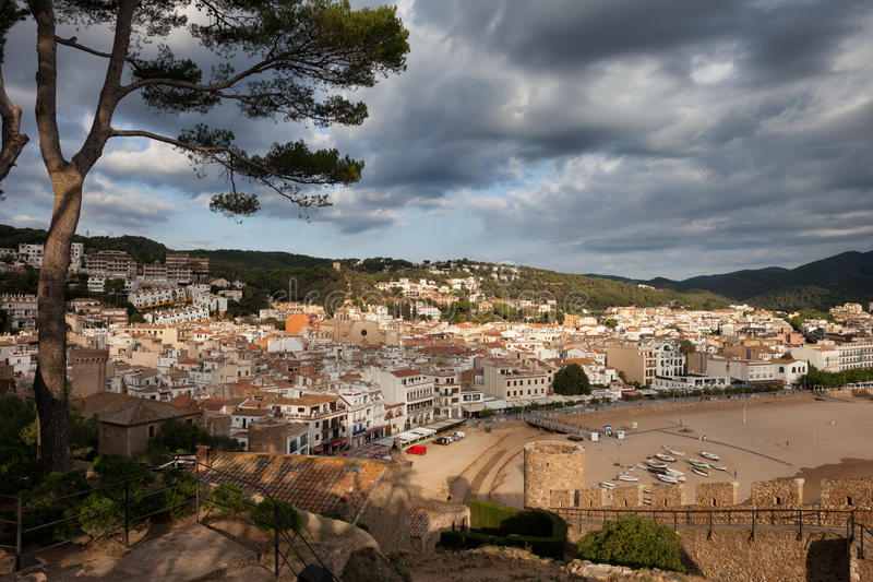 Tossa de Mar Town in Spain royalty free stock photos