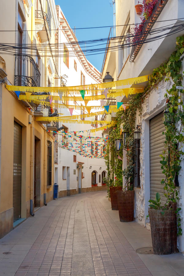 Tossa De Mar The Traditional City Street Stock Image Image of