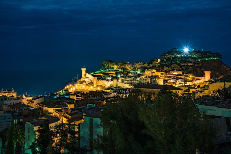 Tossa De Mrz, Costa Brava, Spanien stockbilder