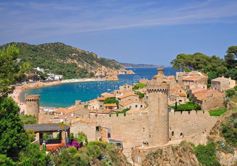 tossa, Espagne, brava de côte photo libre de droits