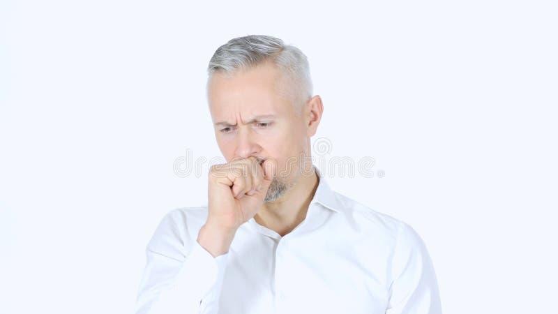 Tossindo, homem de negócios Suffering From Cough imagens de stock royalty free