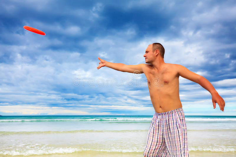 Download Tossing a frisbee stock photo. Image of hawaii, adult - 10903376
