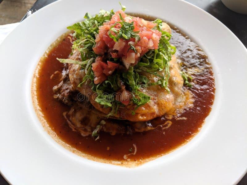 Tostada мяса Carne стоковое изображение