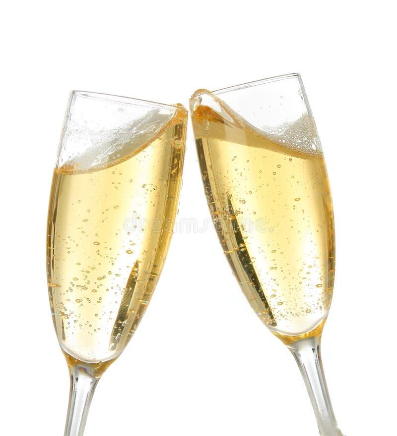 Tostada de la celebración con champán foto de archivo