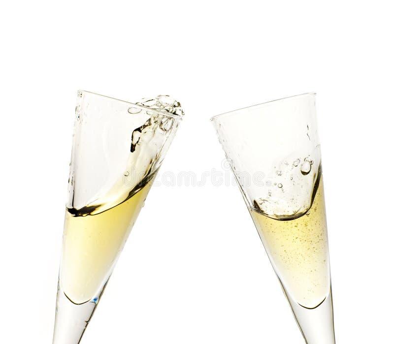 Tostada de la celebración con champán imágenes de archivo libres de regalías