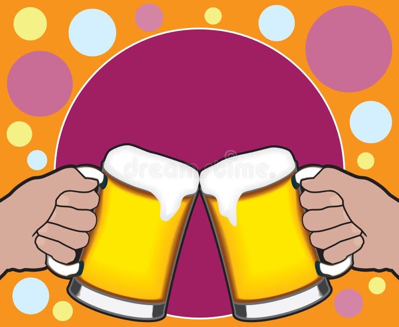 Tostada de la cerveza stock de ilustración