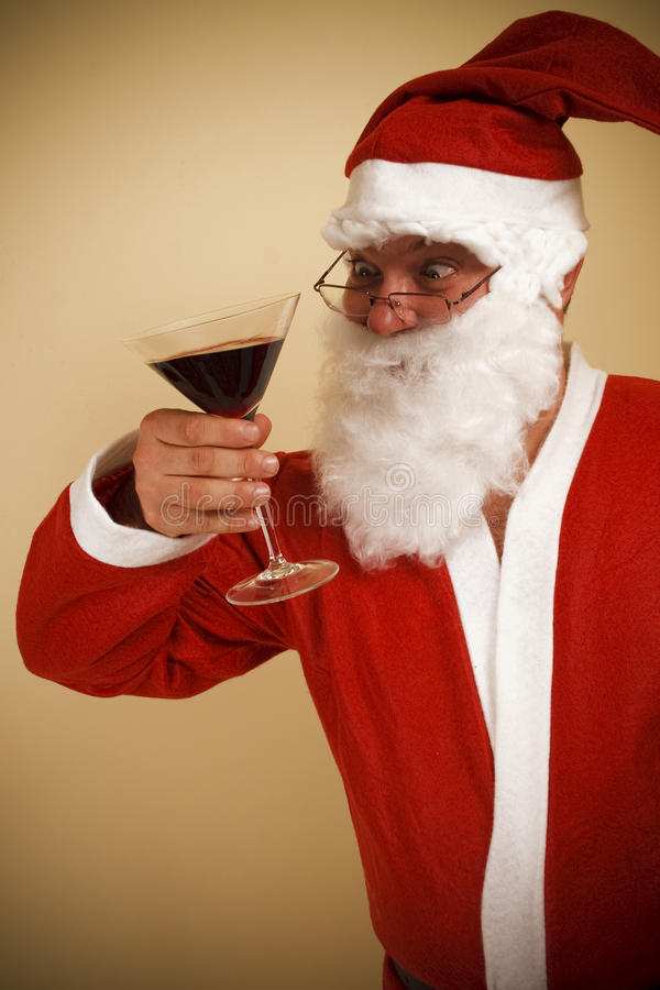Tostada de Papá Noel imagen de archivo