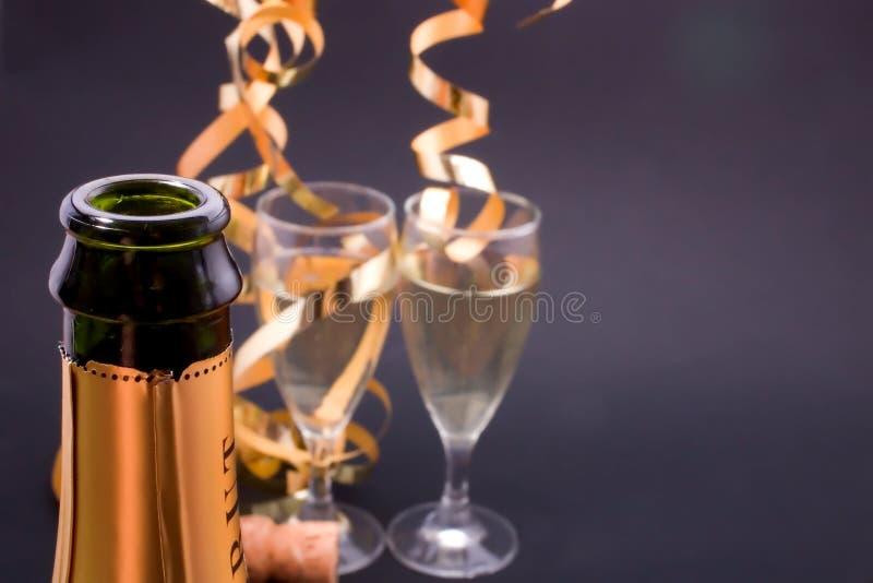Tostada del Año Nuevo imagen de archivo