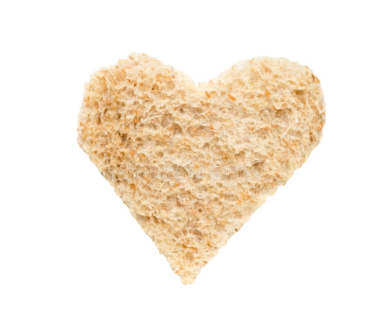 Tostada del corazón del desayuno del amor fotos de archivo