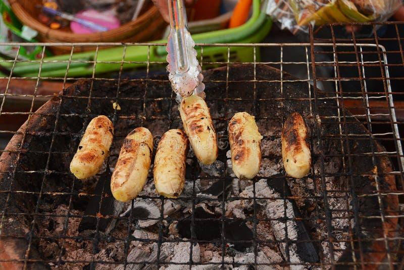 Tostada del plátano, comida dulce tailandesa imagen de archivo libre de regalías