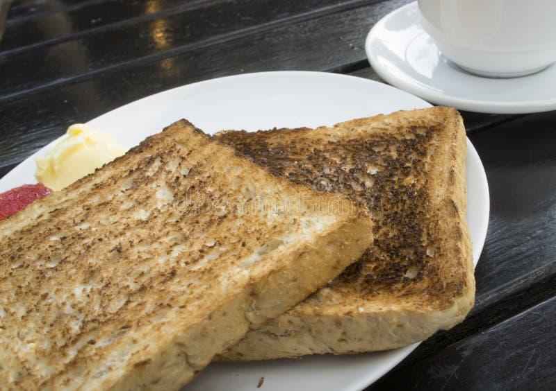 Tostada dos para el desayuno fotografía de archivo