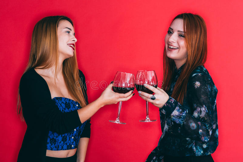 Tostada feliz de la amistad fotografía de archivo libre de regalías