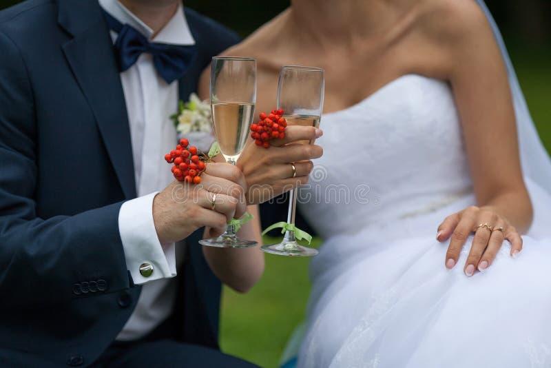Tostada joven de los marrieds foto de archivo libre de regalías