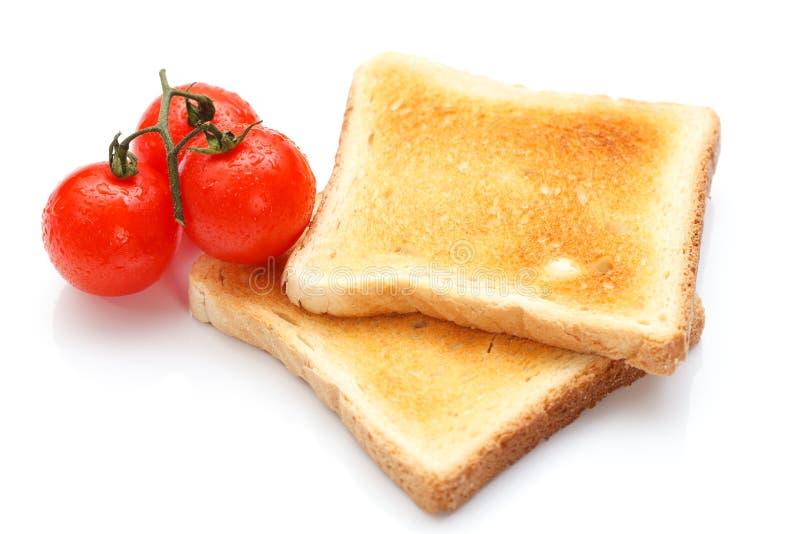 Tostada y tomate imagen de archivo libre de regalías