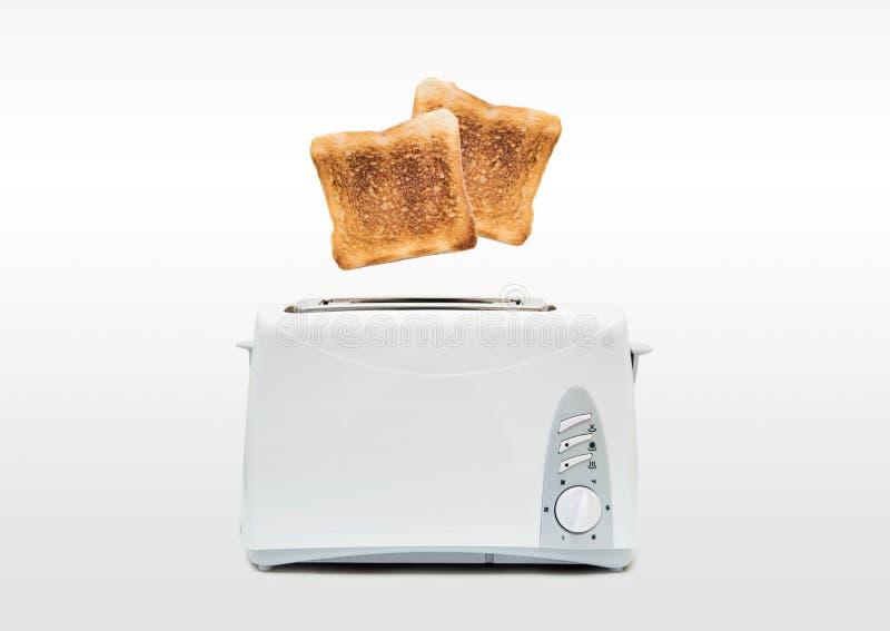 Tostadas de salto de la tostadora foto de archivo