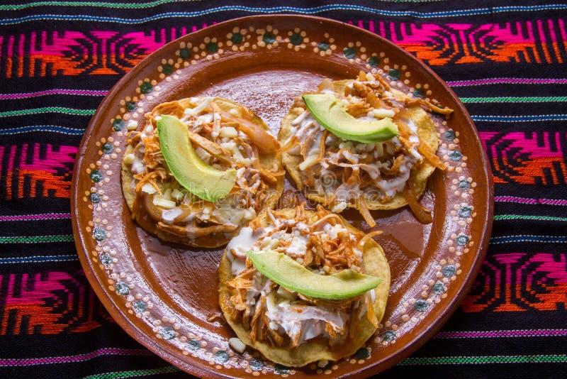Tostadas mexicanos del tinga foto de archivo