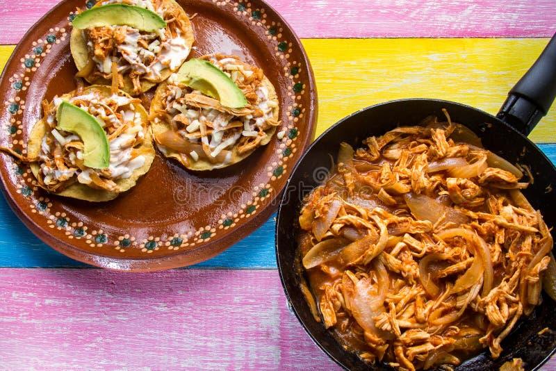 Tostadas mexicanos del tinga foto de archivo libre de regalías