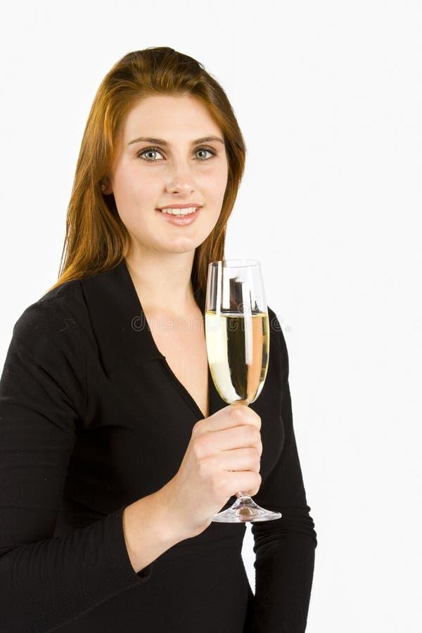 Tostando Con Champagne Immagini Stock